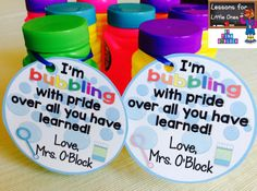 End of the Year Student Gifts & Gift Tags | Lessons for Little Ones by Tina O'Block