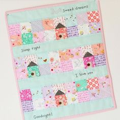 A little monday inspiration. How sweet is this mini quilt by @downgrapevinelane ?? So cute! #fabric #quilt #miniquilt #fabricshoppe