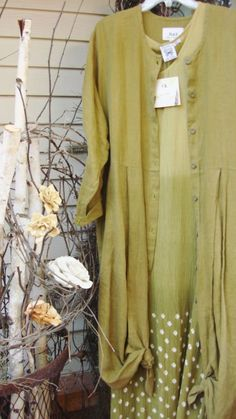 RARE CUT UP DRESS 97 FLAX JEANNE ENGELHART ALGAE SZ LARGE HANDKERCHIEF LINEN  #Flax