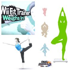 NEW CHARACTER! Wii Fit Trainer (Wii Fit) Weighs in! Fun Fact: Male Wii Fit Trainer is in the game too! Wii Fit, Super Smash Bros, Trainers, Fun Facts, Video Games, Fitness, Healthy Living, Nintendo, Characters