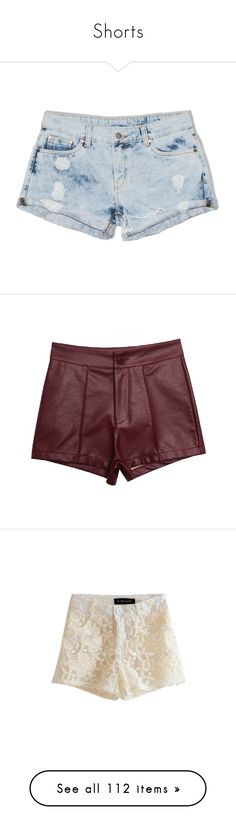 """Shorts"" by brook-s18 ❤ liked on Polyvore featuring shorts, bottoms, short, pants, random bleached out, destroyed shorts, mid rise shorts, flat-front shorts, ripped short shorts and destroyed boyfriend shorts"