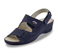 Sandalias de Piel Haiti Azul Marino