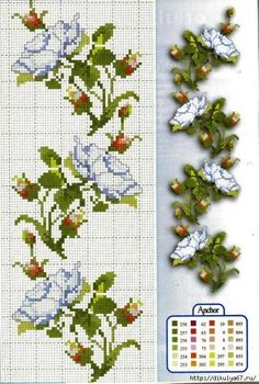 This Pin was discovered by Yus 123 Cross Stitch, Cross Stitch Numbers, Cross Stitch Bookmarks, Beaded Cross Stitch, Cross Stitch Borders, Cross Stitch Flowers, Cross Stitch Charts, Cross Stitch Designs, Cross Stitching
