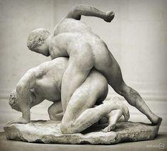 The Wrestlers, Philippe Magnier, Musée du Louvre, Paris