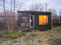annettes skimmer: Arjan Sauna by Sommarnöjen Diy Sauna, Sauna House, Sauna Room, Outdoor Sauna, Outdoor Baths, Sauna Design, Shed Design, Infrared Sauna Benefits, Ranch