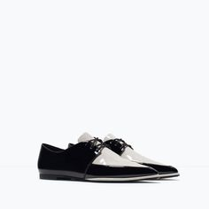 ZARA - SHOES & BAGS - PATENT TOE BLUCHERS