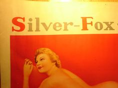 Silver Fox Whiskey advert poster from 1930's on e-bay