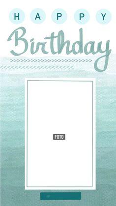 Happy Birthday Template, Happy Birthday Frame, Happy Birthday Posters, Happy Birthday Wallpaper, Birthday Posts, Happy Birthday Cards, Creative Instagram Photo Ideas, Ideas For Instagram Photos, Photo Instagram