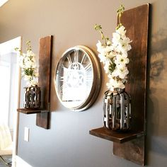 @shanty2chic  sconces I made for my mom's dining room #buildlikeagirl #shanty2chic #diy #sconces #diningroomdecor #instadecor #instastyle #DIYdecor
