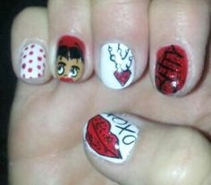 Betty Boop nails!