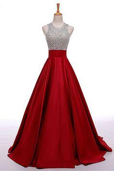 Prom Dresses,Evening Dress,Party Dresses,O-neckline Black Beading A-line