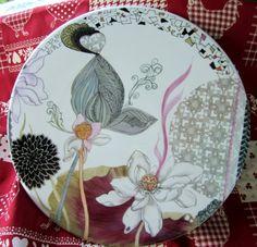 Plaque moderne -  - Vous pratiquez la peinture sur porcelaine