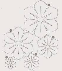Resultado de imagen para flores gigantes de papel moldes