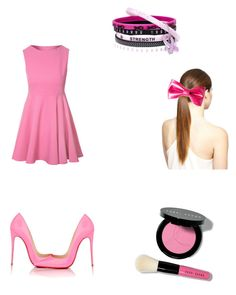"""""""BREAST CANCER"""" by avalanchefan92 ❤ liked on Polyvore featuring Glamorous, Christian Louboutin and Bobbi Brown Cosmetics"""