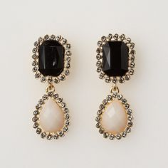 Rose Bud ダブルストーンピアス / Double Stone Earrings on ShopStyle