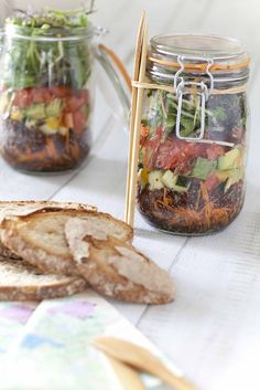 Le Parfait Jar Salade: a mason jar salad made in France! Bocal Le Parfait, salade