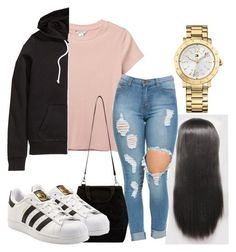 """""""Untitled #114"""" by rabiamiah on Polyvore featuring Monki, H&M, Tommy Hilfiger and adidas Originals"""