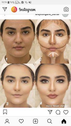 Eye Makeup Steps, Eyebrow Makeup, Skin Makeup, Eyeshadow Makeup, Makeup Contouring, Highlighting Contouring, Beauty Makeup, Mac Makeup, Contouring Products