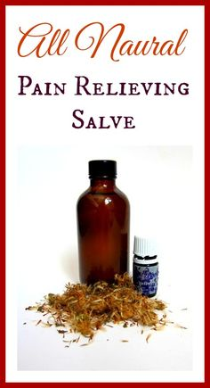 All Natural Pain Relieving Salve. Works great for sore muscles, strains and back ache.  realfoodrn.com