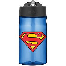 Thermos Superman Man of Steel Hydration Bottle with Flip up Straw - 12 oz