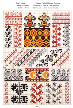 Ukrainian and Romanian embroidery of Bukovyna-Bucovina Palestinian Embroidery, Hungarian Embroidery, Folk Embroidery, Cross Stitch Embroidery, Embroidery Patterns, Cross Stitch Borders, Cross Stitch Charts, Cross Stitch Patterns, Loom Beading