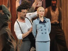 "Ricky Martin and Elena Roger of ""Evita"" perform onstage at the 66th Annual Tony Awards at The Beacon Theatre on June 10, 2012, in New York City."