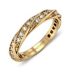 Alliance en or jaune et diamant  Vesta