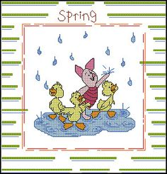 Seasons - Spring Pooh. charts. Gallery.ru / Фото #1 - Primavera - cnekane