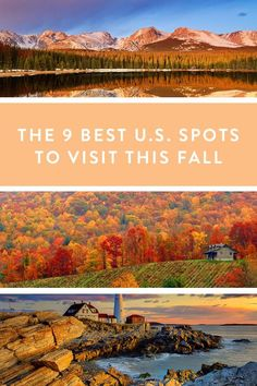 9 Awesome Places to Visit This Fall via @PureWow ~ Best For Wine Tasting: Willamette Valley, Oregon Move over Napa. Come to Oregon wine country in September and October to taste world-class Pinot Noirs while the leaves are at their peak. You can't go wrong at Elk Cove Vineyards, where you can reserve a six-wine flight for $10 a person. Where to stay: Allison Inn & Spa (from $310 per night)