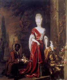 1697 Elizabeth Charlotte of the Palatinate, Duchess of Orléans by Jan Weenix