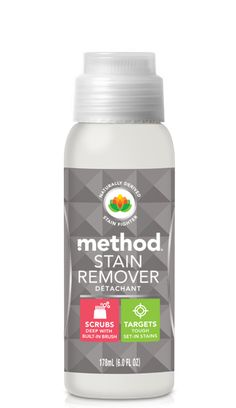 stains can be stubborn, but this bottle of stain-lifting enzymes was built for the task. featuring a built-in brush to let you scrub the formula deep into fabric, our stain remover targets tough, set-in stains. call it your clothes' new best friend. Safe Cleaning Products, Cleaning Hacks, Cleaning Supplies, Eco Products, Vegan Products, Method Cleaner, Cleaning Cupboard, Chemical Free Cleaning, Solid Shampoo