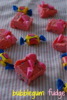 Bubble Gum Fudge --hmmm.... could be decadently delicious or sickeningly sweet, but we want to try. This blog has a lot of stuff like that.