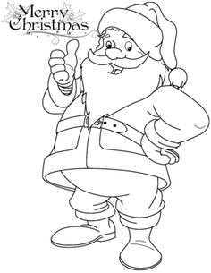 Funny Santa Claus Coloring Page From Category Select 27942 Printable Crafts Of