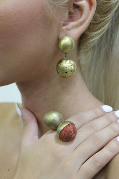 ''Spheres of life''. Brass - Coral by Flora Lampadinou...