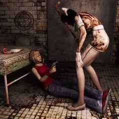 Attack by Mageflower on DeviantArt Silent Hill 2, Vampire Masquerade, Alien Isolation, Fight The Power, Pantomime, Bioshock, Dragon Age, Dark Art, Horror