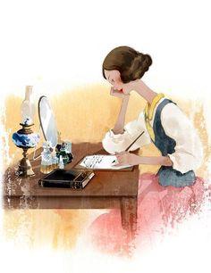 *soupir* écrire des lettres... comme ça me manque parfois... C'était bien d'écrire des lettres ! On en écrivait de toute sorte ! Pour dire tout et n'importe quoi, pour une déclaration d'amour ou d'insulte (XD), anonyme ou signée, pour faire connaissance ou se dire au revoir... Le bon temps !