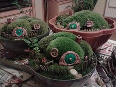 DIY hobbit house mini garden - YouTube tutorial Fairy garden Lord of the rings themed fairy garden; #fairygardenminiatures #fairygarden #fairyhouses