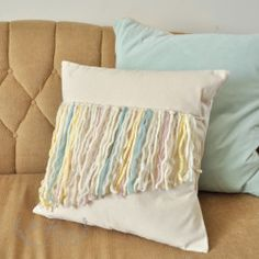 Fun and easy fringe front pillows