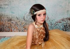 Snazzy Gold flower girl 2 piece Tutu Dress by tutuglamourous