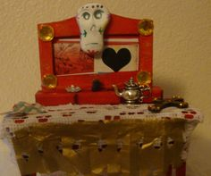 mini Day of the Dead table top shrine by catrinacreations on Etsy