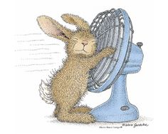 I am always so hot and have to have a fan constantly pointed in my direction! Love this! House-Mouse Designs®