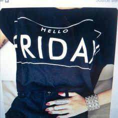 Hello Friday Street Style Cute Couples T-shirt