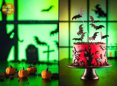 Halloween-Torte im Friedhofstyle, Grabsteinkuchen, Mumien-Dessert oder vielleicht Spinnen und Mäuschen im Glas? Was darf es denn sein? Für die Gäste nur das Beste! Uahrrrr...