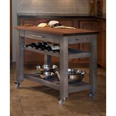 Martins Homewares Metro Kitchen Island & Reviews | Wayfair