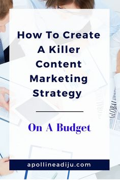 Do you need a Content Marketing Strategy for your business, but you are tight on budget? Here is a snackable plan of how to create one for your marketing. Digital Marketing Strategy, Online Marketing Strategies, Marketing Plan, Business Marketing, Social Media Marketing, Affiliate Marketing, Social Media Tips, Online Business, Pinterest Marketing