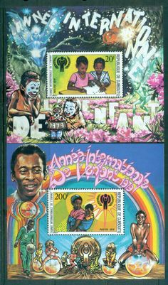 Djibouti 1979 IYC Intl Year of the Child 2xMS MUH
