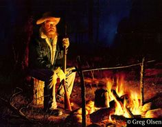 """""""Night in Grizzly Country"""" by Greg Olsen"""