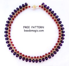 Free pattern for necklace Nino U need: seed beads 11/0 bicone beads 4 mm rondelle
