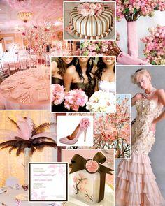 Pink+Brown-Wedding