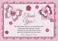 Tips And Ideas For Baby Shower Thank You Cards